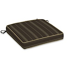 image of Bombay® Trevor Stripe Snap Dry™ 20-Inch x 20-Inch Double Welt Seat Cushion in Espresso