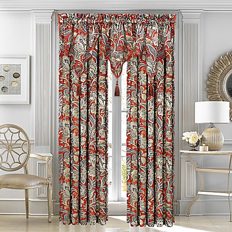 Buy J Queen New York Ventura 63 Inch Rod Pocket Window Curtain Panel In Cabernet From Bed Bath