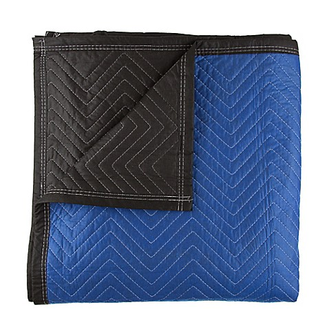 72 Inch X 80 Padded Moving Blanket In Blue Black