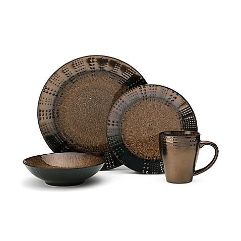 Gourmet Basics by Mikasau0026reg; Verona 16-Piece Dinnerware Set in Brown  sc 1 st  Bed Bath u0026 Beyond & Gourmet Basics by Mikasa® Verona 16-Piece Dinnerware Set in Brown ...