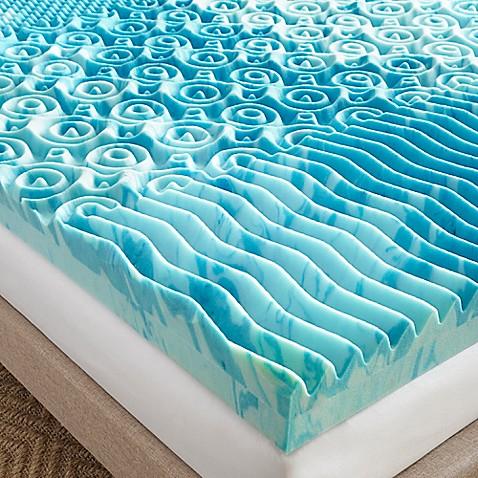 Lane 4 Inch Gellux Gel Memory Foam Mattress Topper In Blue