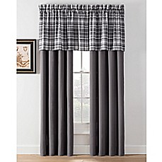 image of Camden Plaid Window Curtain Panels and Valance