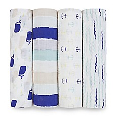 image of aden® by aden + anais® High Seas 4-Pack Multicolor Classic Muslin Swaddle Blankets