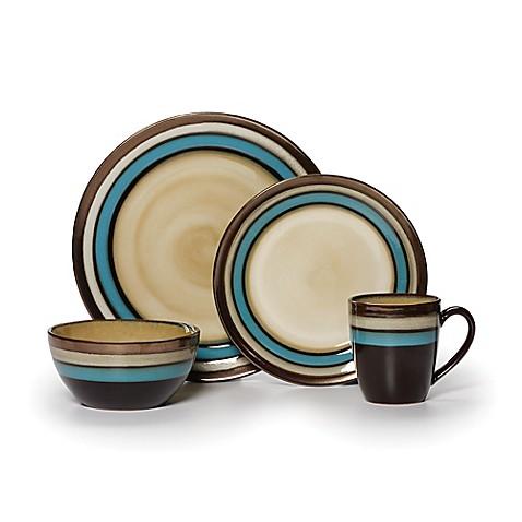 Gourmet Basics by Mikasa® Spector Blue 16-Piece Dinnerware Set - Bed ...