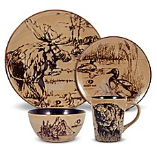 image of Mossy Oak® Break Up Infinity 16-Piece Dinnerware Set