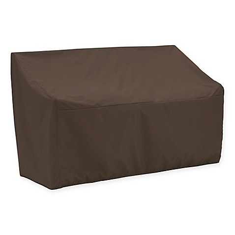 Canvas Patio Loveseat Cover In Dark Brown Black Bed Bath