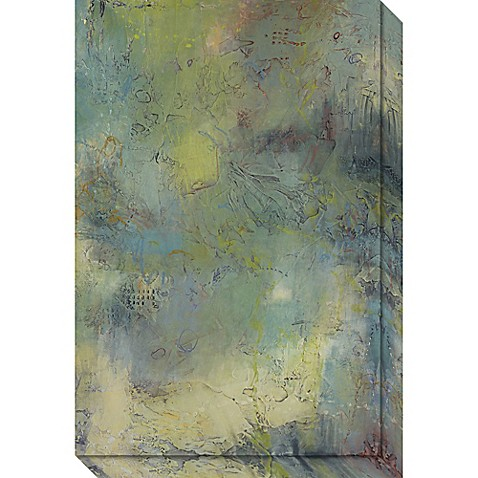 blue and green musings i canvas wall art bed bath beyond. Black Bedroom Furniture Sets. Home Design Ideas