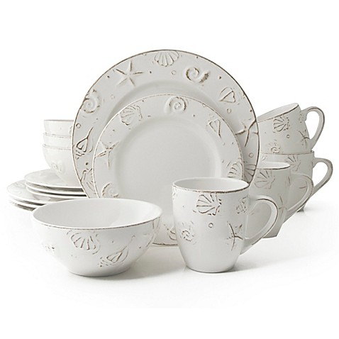 Thomson Pottery H&ton 16-Piece Stoneware Dinnerware Set  sc 1 st  Bed Bath u0026 Beyond : bed bath and beyond dinnerware sets - pezcame.com