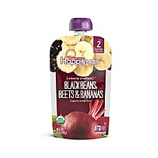 image of Happy Baby™ 4 oz. Stage 2 Organic Baby Food with Black Beans, Beets, and Bananas