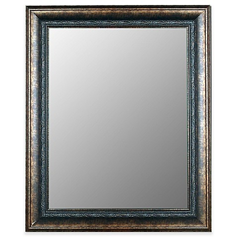 buy hitchcock butterfield 40 inch x 50 inch milano mirror in bronze black from bed bath beyond. Black Bedroom Furniture Sets. Home Design Ideas