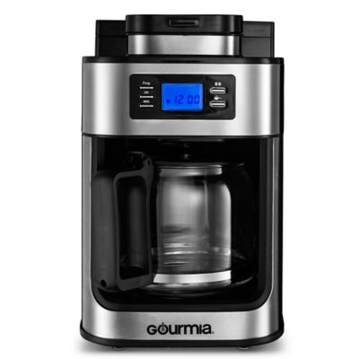 Gourmia 10-Cup Coffee Maker with Built In Grinder in Stainless Steel - Bed Bath & Beyond