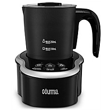 image of Gourmia Cordless Electric Milk Frother/Heater in Black