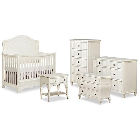 BassettBabyreg Premier Seraphina Nursery Furniture Collection In Vintage White