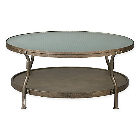 Ink Ivy Cambridge Round Coffee Table In Antique Silver Bed Bath Beyond
