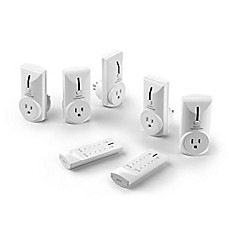 image of Link2Home 7-Piece Remote Control Electrical Outlet Set