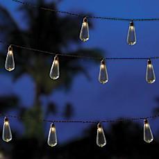Image Of Edison Indoor/Outdoor 10 Bulb String Lights In Brown