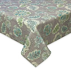 image of Tommy Bahama Tahitian Jacobean Tablecloth in Grey