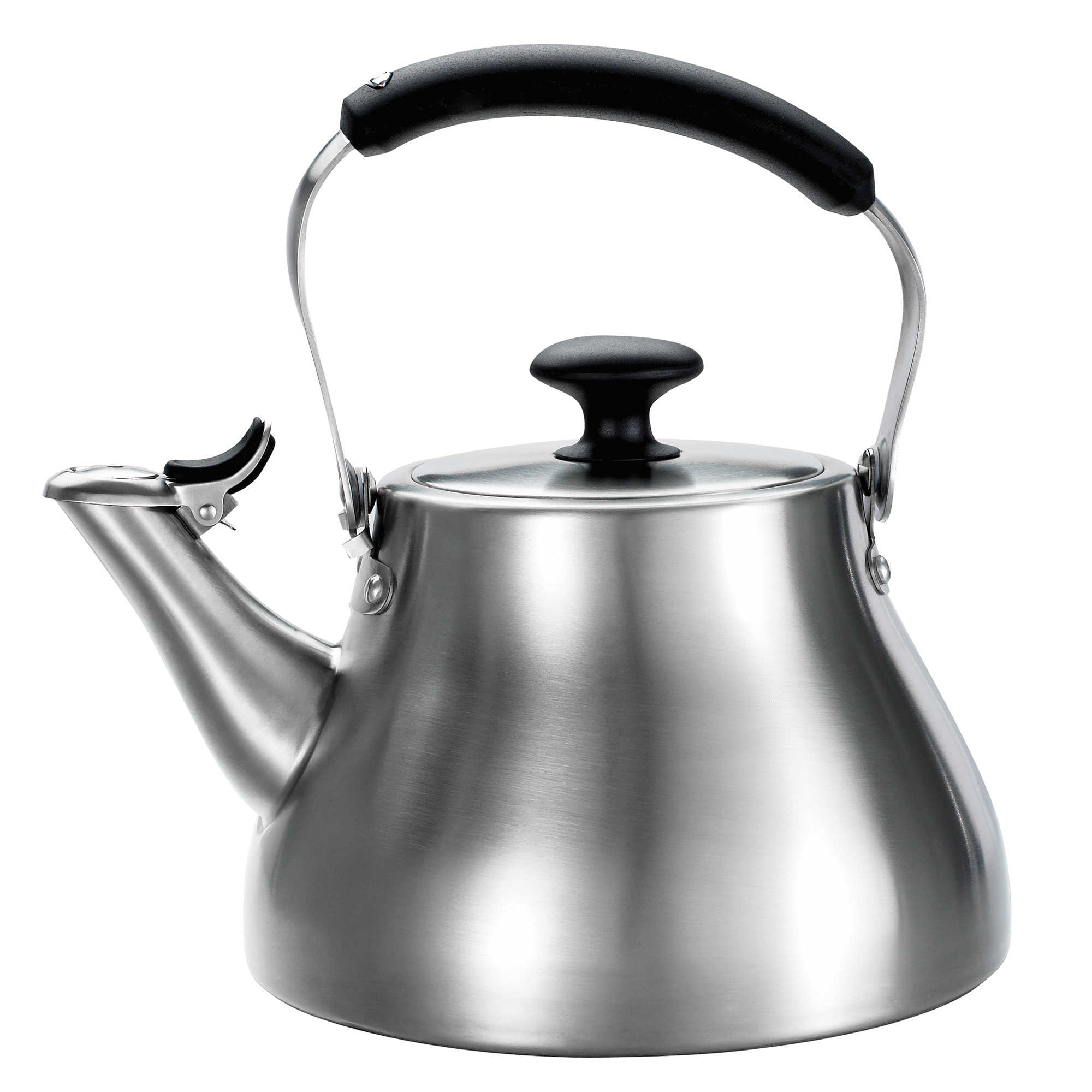 oxo good grips® brushed stainless steel tea kettle  bed bath  beyond - oxo good gripsreg brushed stainless steel tea kettle