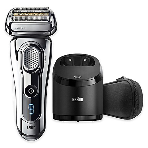 braun series 9 9295cc wet dry electric shaver in chrome bed bath beyond. Black Bedroom Furniture Sets. Home Design Ideas