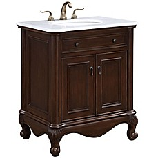 image of Single Vanity Set in Teak