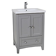 image of Single Vanity Set in Grey