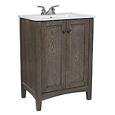 Single Bathroom Vanities   Bed Bath   Beyond image of Single Vanity Set in Weathered Oak. Bed Bath And Beyond Bathroom Sets. Home Design Ideas