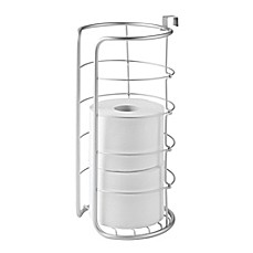 image of InterDesign® Over-the-Tank Multiple Toilet Paper Roll Holder in Silver