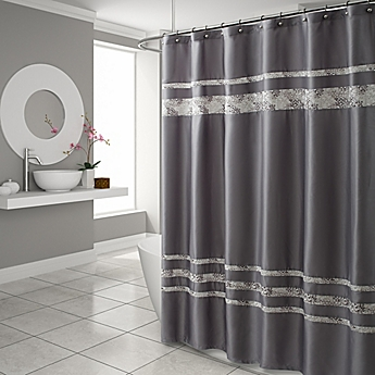 Amazing Croscill® Spa Tile 70 Inch X 75 Inch Shower Curtain In Grey