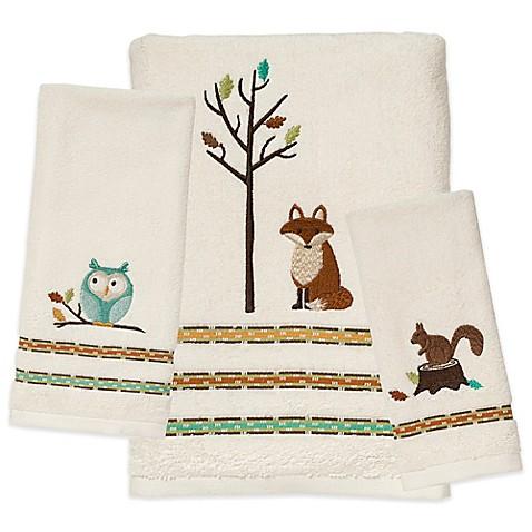 Saturday Knight Fall Friends Bath Towel In Ivory Bed