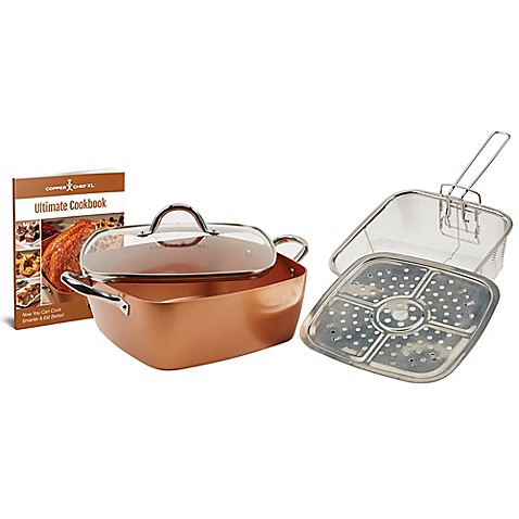 Copper Chef 5 Piece Xl 11 Inch Square Casserole Pan Set