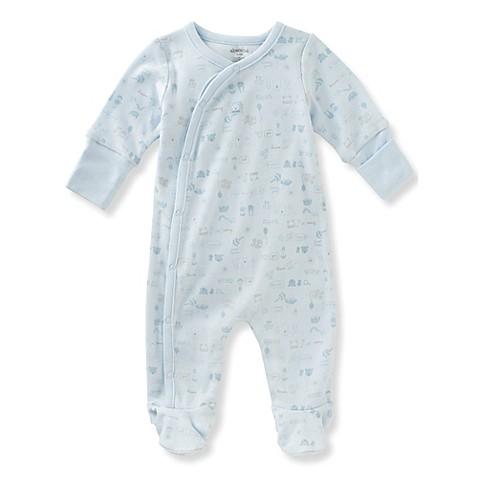 Absorba Baby Print Footie in Blue Bed Bath & Beyond