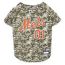 image of MLB New York Mets Camo Pet Jersey