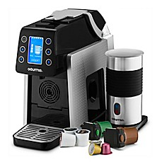 image of Gourmia® 1-Touch K-Cup Espresso/Coffee Capsule Machine with Milk Frother