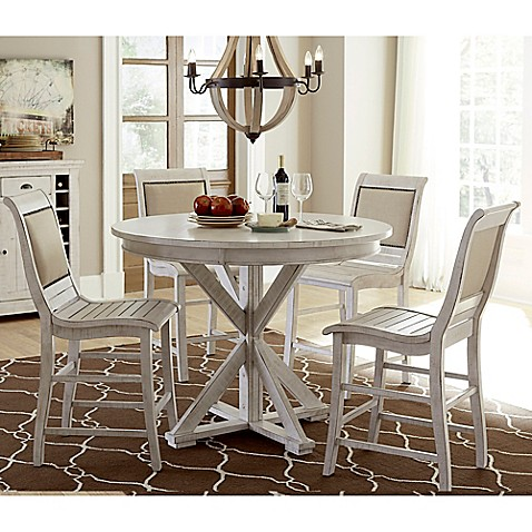 Buy Willow Round Counter Height Dining Table In Distressed