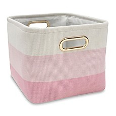 Image Of Lambs Ivy Ombre Storage Basket In Pink Gold