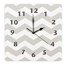 image of Trend Lab® Chevron Wall Clock in Dove Grey