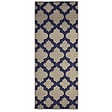 image of Alessandra Rug in Linen/Navy