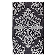 image of Jean Pierre Cole Loop Accent Rug in Black/Grey