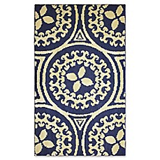 image of Jean Pierre Mimosa Rug in Navy/Berber