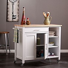 image of Southern Enterprises Martinville Kitchen Cart in White