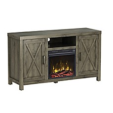 image of ClassicFlame® Humboldt Electric Fireplace and TV Stand in Spanish Grey