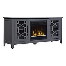 image of ClassicFlame® Clarion Electric Fireplace and TV Stand in Grey