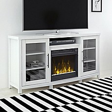 image of ClassicFlame® Rossville Electric Fireplace and TV Stand in White