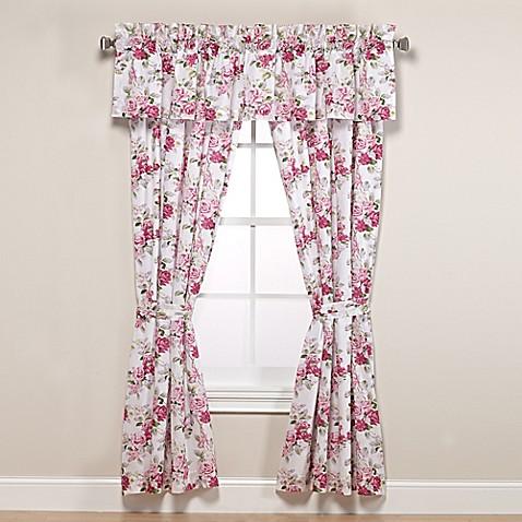 Laura Ashley 174 Lidia 84 Inch Rod Pocket Window Curtain