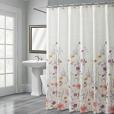 croscill pressed flowers shower curtain bed bath beyond