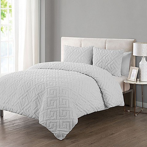 clairebella cabo comforter set in white bed bath amp beyond buy vcny home artemis embossed 3 174