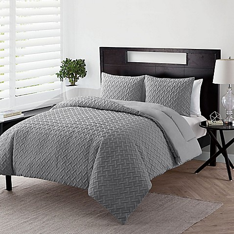 Vcny Home Nina Embossed Down Alternative 3 Piece Comforter Set Bed Bath Beyond