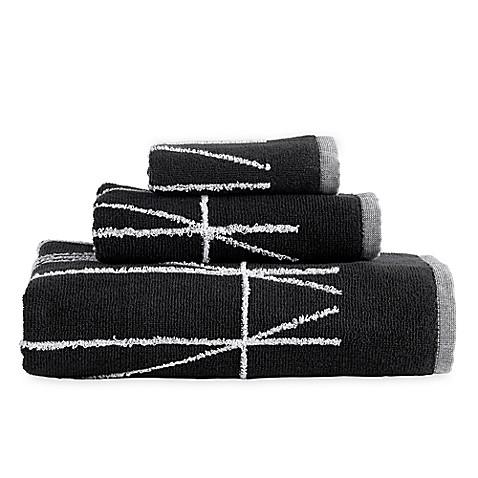 Buy Dkny Geometrix Bath Towel In Black White From Bed Bath Beyond