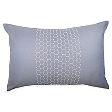 image of Canadian Living Tofino Oblong Throw Pillow in Blue/Grey