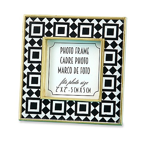 Kate Aspen Tropical Chic 2-Inch x 2-Inch Tile Patterned Frames (Set ...